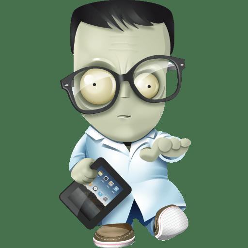 Geek-zombie icon