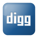 Social digg box blue icon