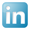 Social linkedin box blue icon