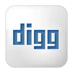 Social digg box white icon