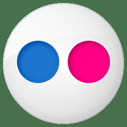 Social flickr button icon