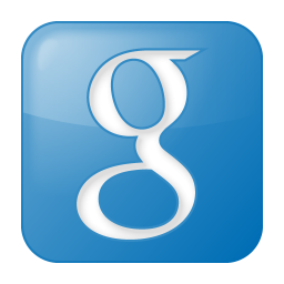 Social google box blue icon