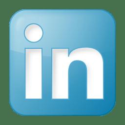 Social linkedin box blue icon