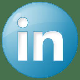 Social linkedin button blue icon