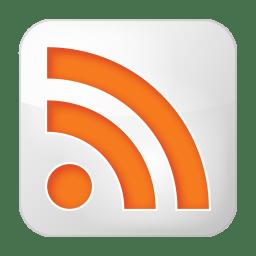 Social rss box white icon
