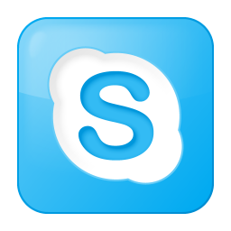 Social skype box blue icon