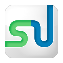 Social stumbleupon box white icon