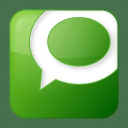Social technorati box green icon