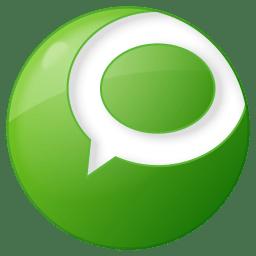 Social technorati button green icon