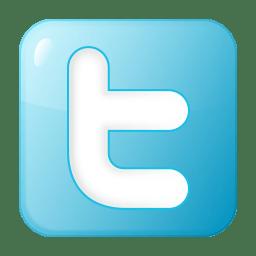 Social twitter box blue icon
