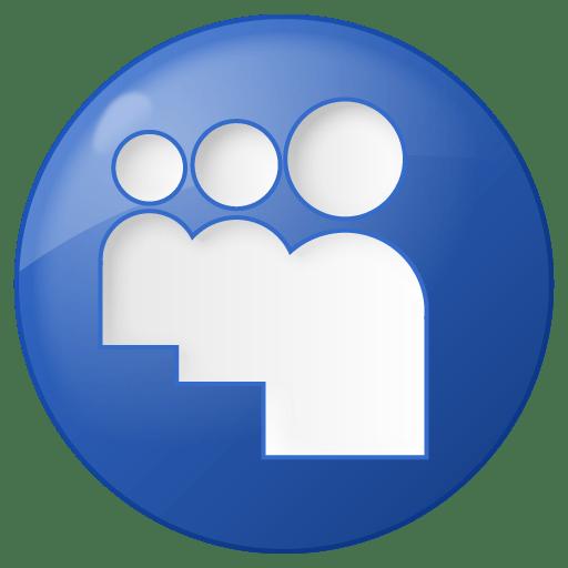 Social-myspace-button-blue icon