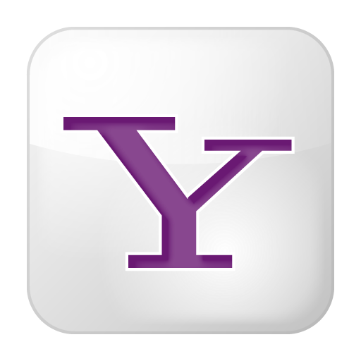 Social-yahoo-box-white icon