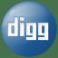 Social-digg-button-blue icon