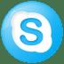 Social-skype-button-blue icon