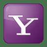 Social-yahoo-box-lilac icon