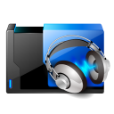 Folder music share icon