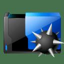 Folder virus icon