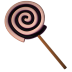 Lolly-spiral-black icon