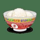 Bol de riz plein icon