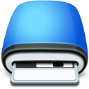 Drive Floppy blue icon