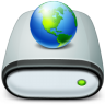Drive-Network-connected icon